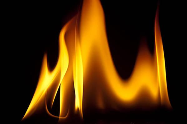 Study Of Flames I Art Print by Patrick Boening