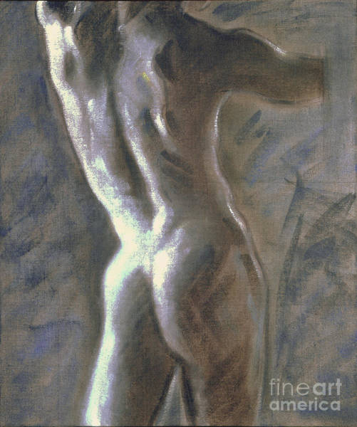 Painting - Study Of The Male Torso I by Ritchard Rodriguez