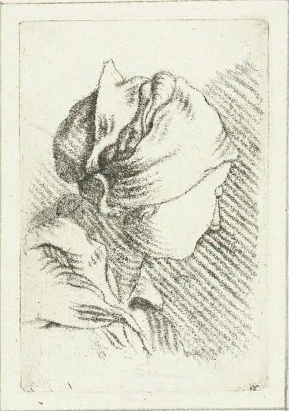 Scarf Drawing - Study Sheet With A Woman With Head Scarf by Louis Bernard Coclers