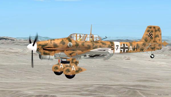 Junkers Digital Art - Stuka Dive Bomber by Walter Colvin