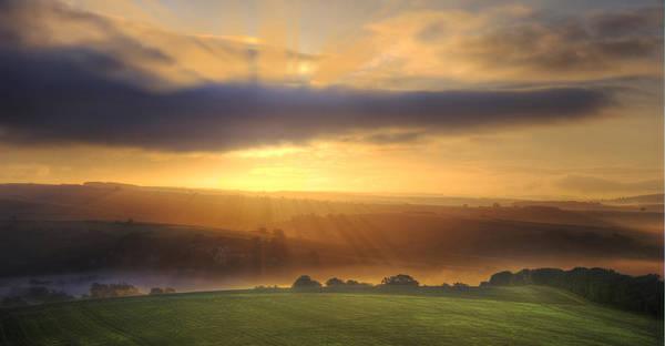 Reborn Wall Art - Photograph - Stunning Sunrise Over South Downs  by Matthew Gibson