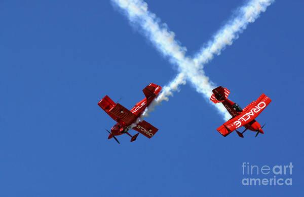 Photograph - Stunt Flying by Bill Bachmann