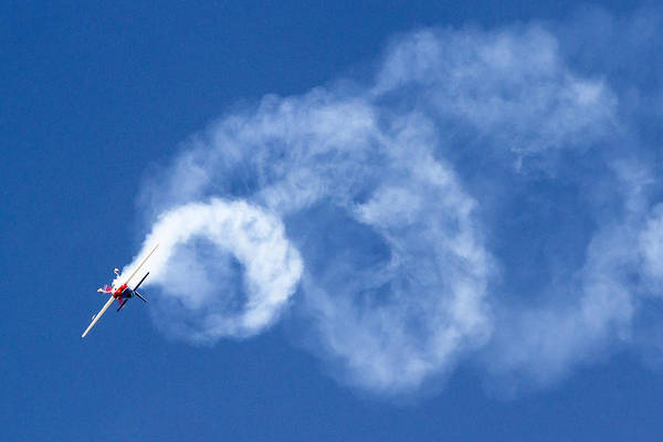 Photograph - Stunt Plane Corkscrew by Jim Moss