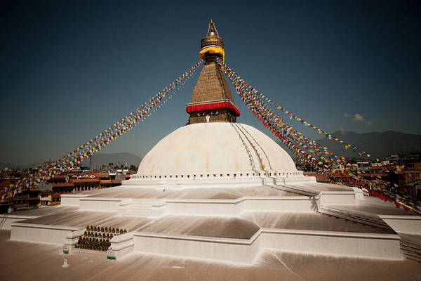 Photograph - stupa Boudnath by Raimond Klavins