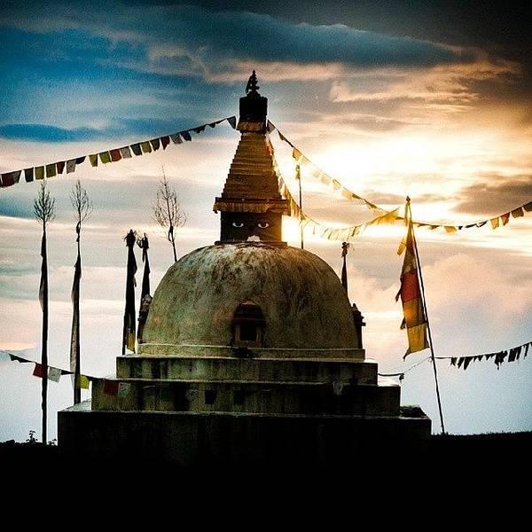 Beautiful Sunrise Wall Art - Photograph - Stupa Himalayas by Raimond Klavins