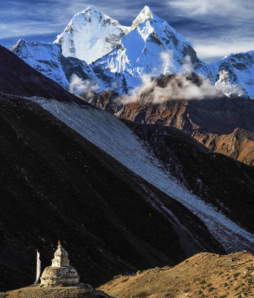 Khumbu Wall Art - Photograph - Stupa In Dingboche, Sagarmatha Np, Nepal by Feng Wei Photography