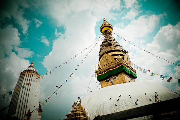 Wall Art - Photograph - Stupa Swayambhunath Kathmandu by Raimond Klavins