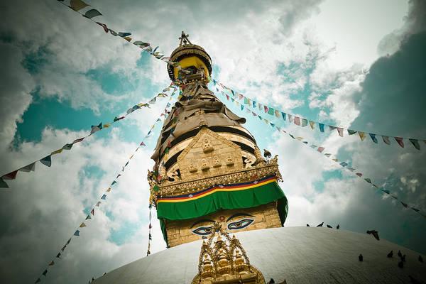 Wall Art - Photograph - Stupa Swayambhunath by Raimond Klavins