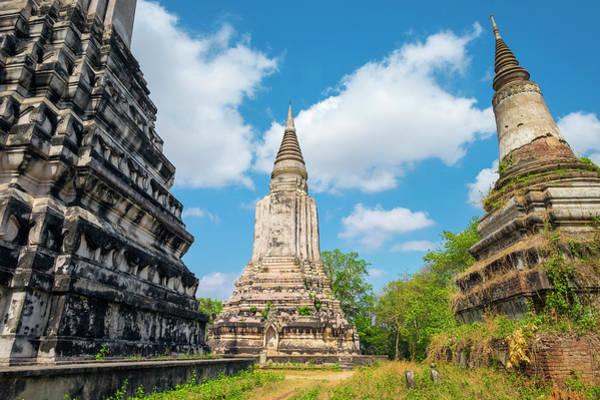 Jason Day Photograph - Stupas At Phnom Oudong, Kandal by Jason Langley