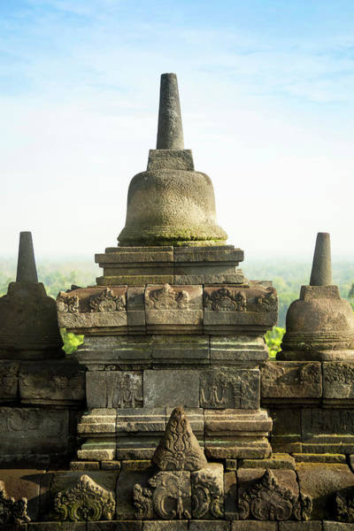 Indonesian Culture Photograph - Stupas On Borobudur Temple by Konstantin Trubavin