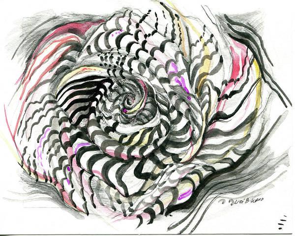 Drawing - Stylin Rose by Lizi Beard-Ward