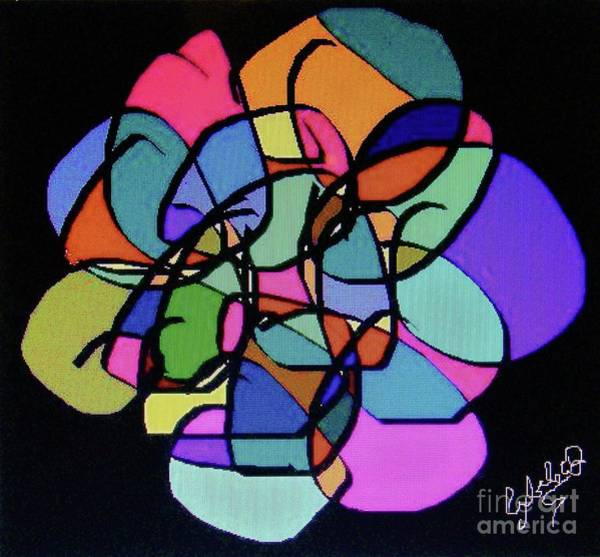 Fleur Digital Art - Stylized Mandala by Cybele Chaves