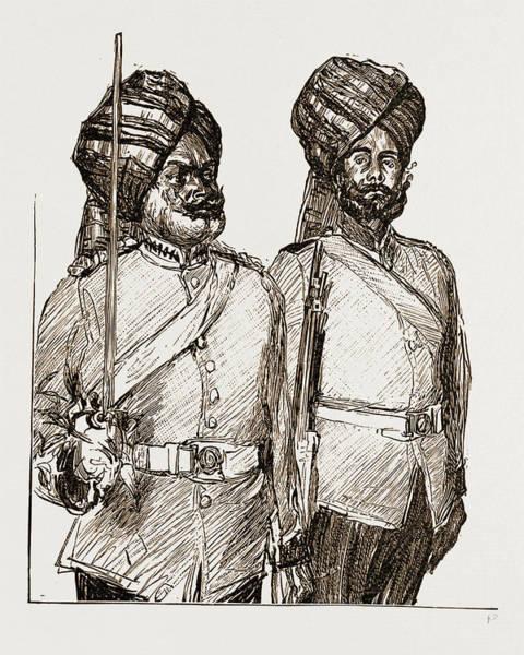 Singh Drawing - Subadah Singh. Sergeant Kala Singh Malay States Guides by Litz Collection