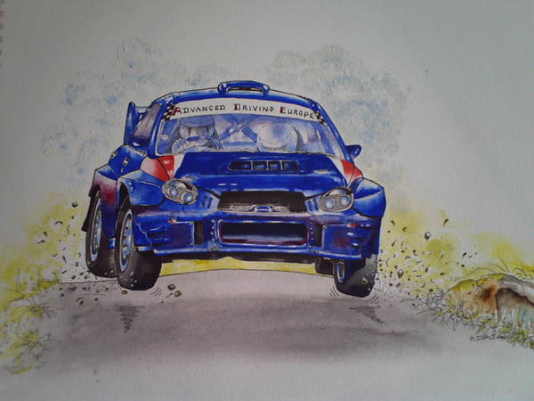 Painting - Subaru Impreza Wrc by Anne Dalton