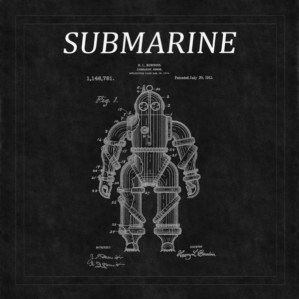 Photograph - Submarine Patent 10 by Andrew Fare