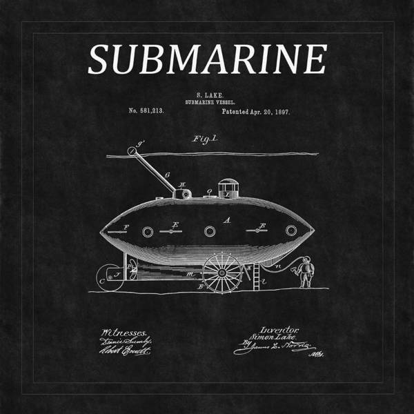 Photograph - Submarine Patent 2 by Andrew Fare