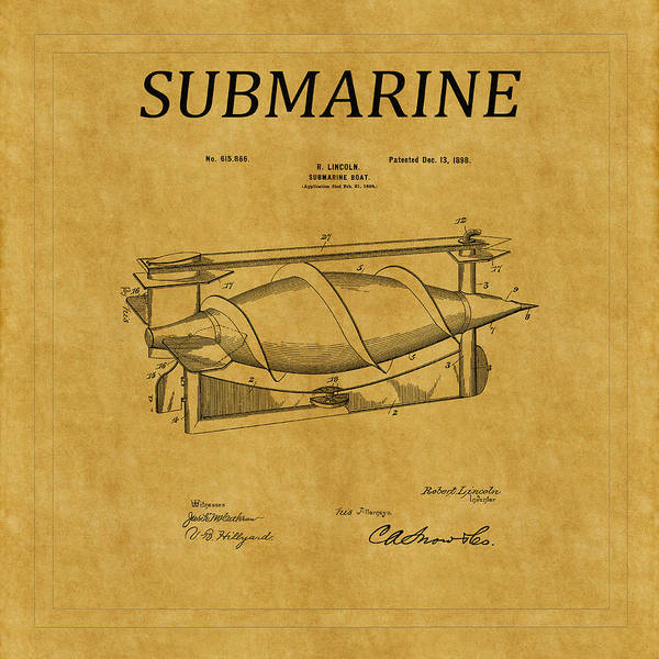Photograph - Submarine Patent 3 by Andrew Fare