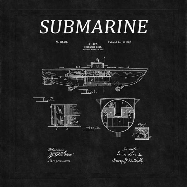 Photograph - Submarine Patent 6 by Andrew Fare