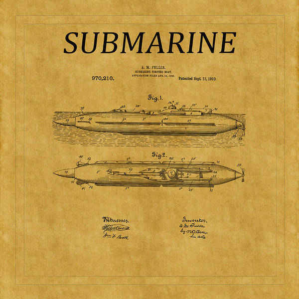 Photograph - Submarine Patent 7 by Andrew Fare