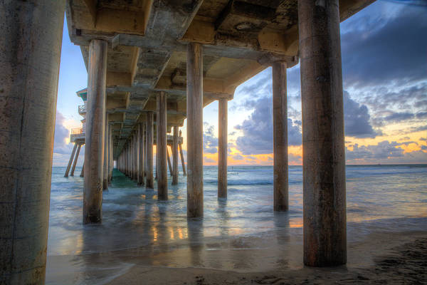 Oceanfront Photograph - Subtle Pier Sunset by Andrew Slater
