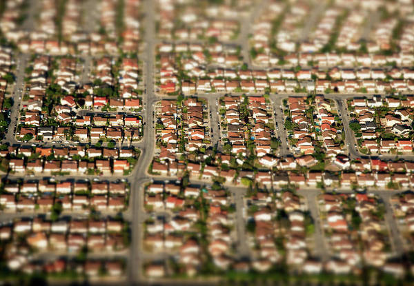 Silicon Valley Wall Art - Photograph - Suburan Homes From The Air by Cameron Davidson