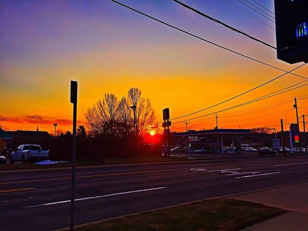 Photograph - Suburban Sunset by Chris Montcalmo