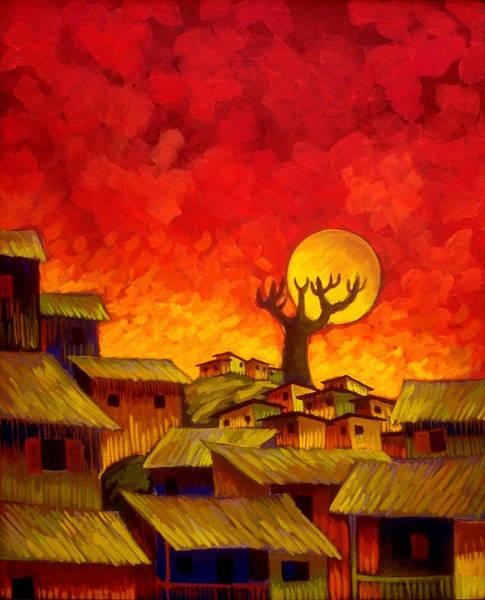 Conceptualism Painting - Suburbio by Miguel Suarez-Pierra