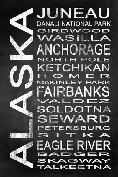 Wall Art - Digital Art - Subway Alaska State 1 by Melissa Smith