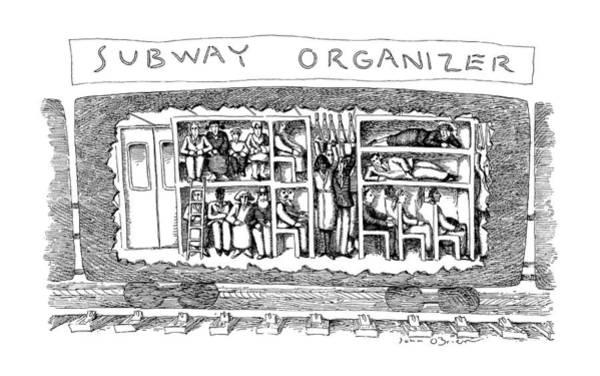 1990 Drawing - Subway Organizer by John O'Brien