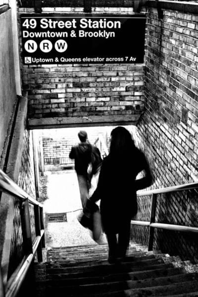 Quick Wall Art - Photograph - Subway Shadows by Karol Livote