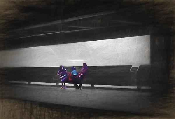Wall Art - Photograph - Subway Train Station In Sao Paulo Brazil - 1982 - Topaz by Steve Ohlsen