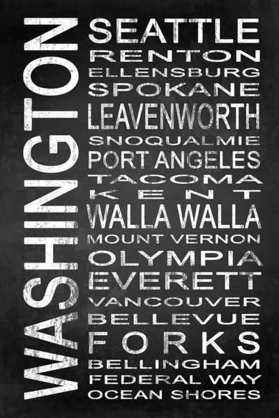 Spokane Digital Art - Subway Washington State 1 by Melissa Smith