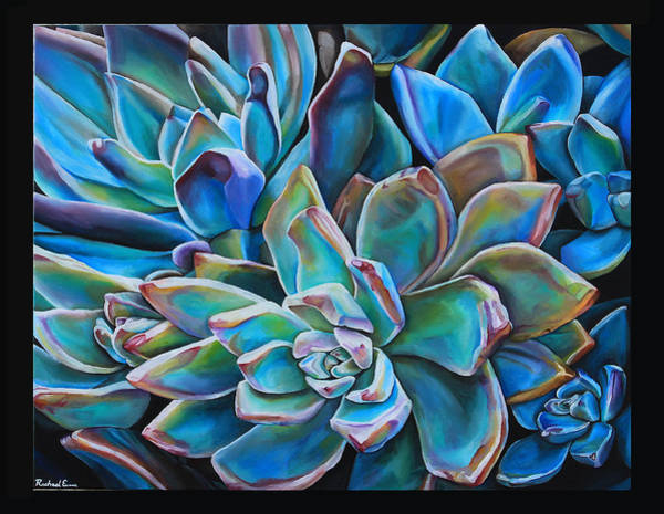 Desert Rose Painting - Succulent1 by Rachael Evans