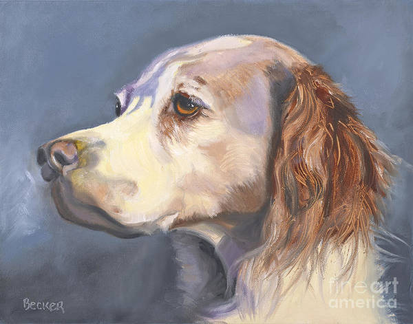 Wall Art - Painting - Such A Spaniel by Susan A Becker