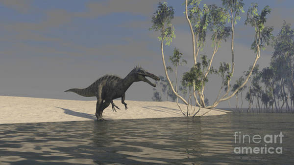 Digital Art - Suchomimus Hunting For Food At The Edge by Kostyantyn Ivanyshen