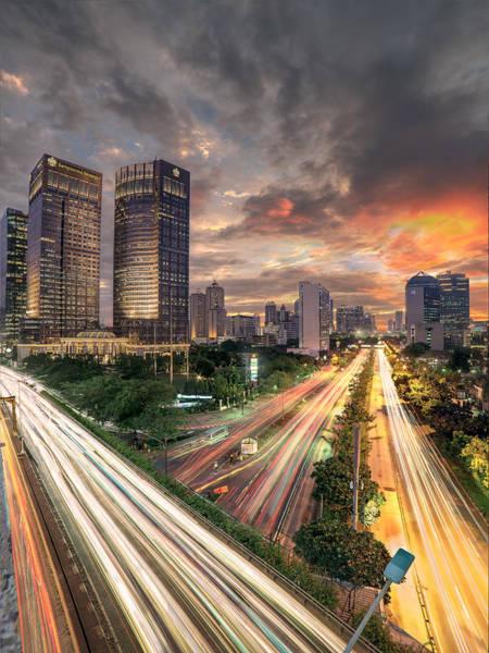 Jakarta Photograph - Sudirman Burning Sunset by Abdul Azis