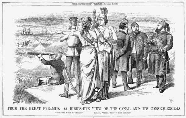 Painting - Suez Canal Cartoon, 1869 by Granger
