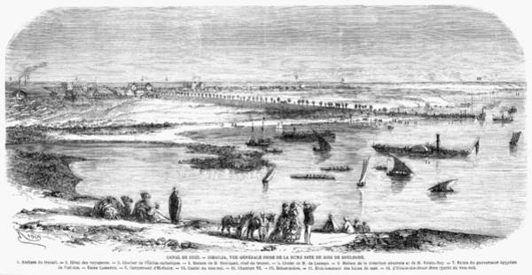 Wall Art - Painting - Suez Canal Ismailia, 1869 by Granger