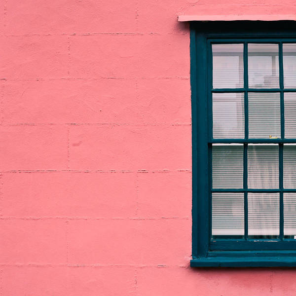 Window Photograph - Suffolk Pink by Tom Gowanlock