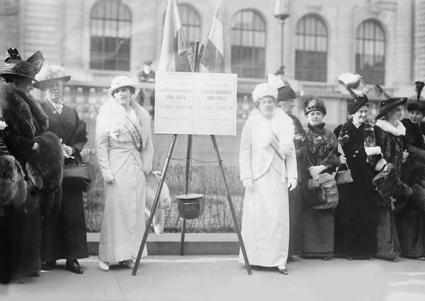 Wall Art - Photograph - Suffrage Gathering In New York City by Stocktrek Images