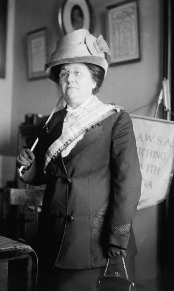 Wall Art - Photograph - Suffragist Miss Jenkins With A Banner by Stocktrek Images
