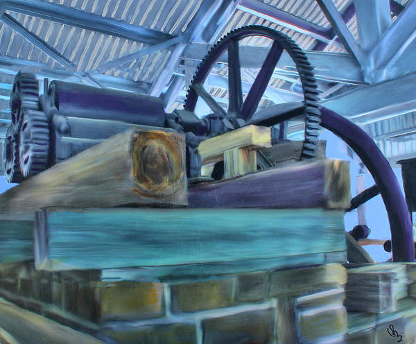 Mixed Media - Sugar Mill Gizmo by Deborah Boyd
