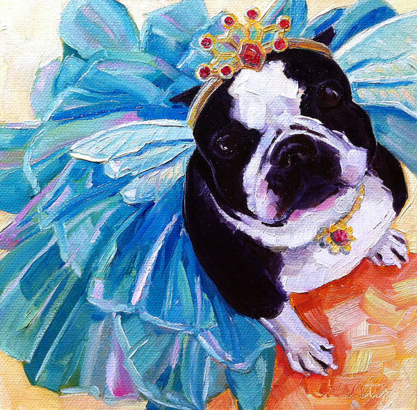Wall Art - Painting - Sugar Plum Terrier by Kristy Tracy