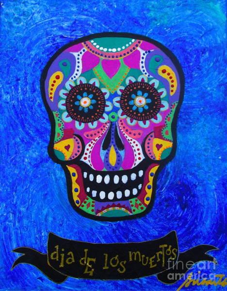 Painting - Sugar Skull Calavera by Pristine Cartera Turkus
