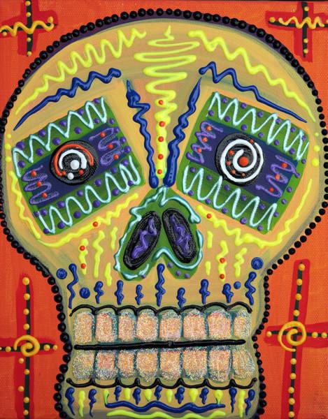 Wall Art - Painting - Sugar Skull Delight by Laura Barbosa