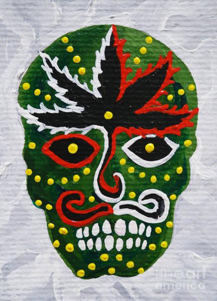 Wall Art - Painting - Sugar Skull Painting 1 by Benjavisa Ruangvaree