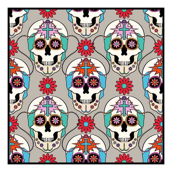 Digital Art - Sugar Skulls Pattern by MM Anderson
