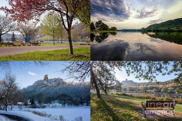 Photograph - Sugarloaf Four Seasons Winona Minnesota by Kari Yearous