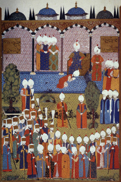 Wall Art - Painting - Suleiman's Accession, 1520 by Granger