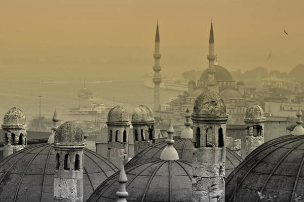 Wall Art - Photograph - Suleymaniye Mosque And New Mosque In Istanbul by Ayhan Altun